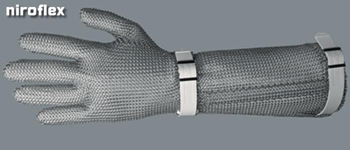 ステンレス製メッシュグローブ5本指タイプ 19cmカフ